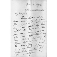 Gowers letter Dec 1892