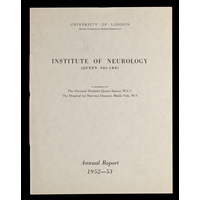 ION Annual Report 1952-53