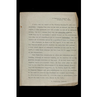 Letter regarding Sir William Gairdner's case. 1903
