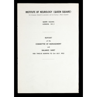ION Report of the Committee of Management 1952