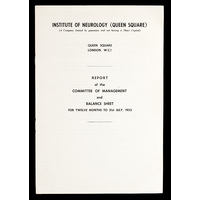 ION Report of the Committee of Management 1953
