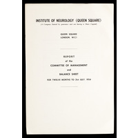 ION Report of the Committee of Management 1954