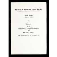 ION Report of the Committee of Management 1955