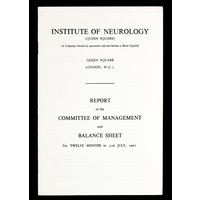 ION Report of the Committee of Management 1962