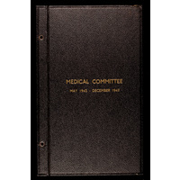 Medical Committee minutes 1943-47