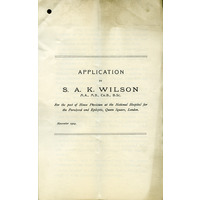 Kinnier Wilson House Physician application