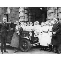 Miss Voilet Loraine visits Queen Square 1919