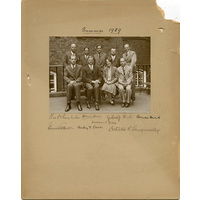 Group photograph. 1929 with Greenfield.
