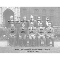 Full time course. December 1963. With JAV Bates.