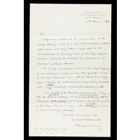 Draft of the letter from Burford Rawlings to the Duke of Albany inviting him to become president of the Charity. 20th December 1883.