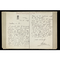 Appeal letter from HRH The Duchess of Albany, president of the Hospital Jubilee Committee. 1907.