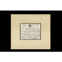 Letter conveying the consent of King George V to grant his patronage to the Hospital, 1910.