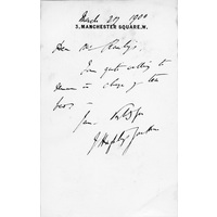 Letter from Hughlings Jackson to Burford Rawlings.  27 March 1900