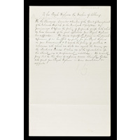 Draft of a letter to the Duchess of Albany from the Board of Management, offering condolences on the death of the Duke of Albany. 1884