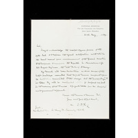 Draft of a letter to Sir Henry F Ponsonby (Queen Victoria's private secretary), from Burford Rawlings. 21st  May 1884.