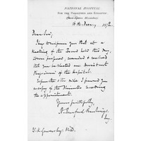 Gowers Assistant Physician letter