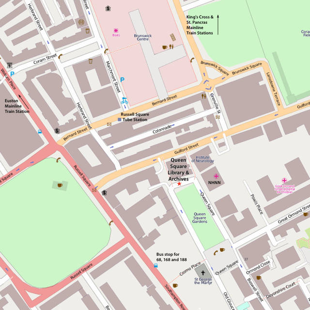 Queen Square Library map