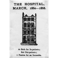 The first building housing the National Hospital 1860-1866