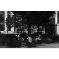 Three patients in Queen Square Garden