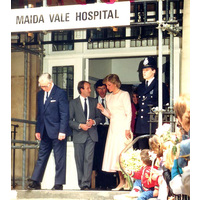 Diana Princess of Wales visits Maida Vale Hospital 1986