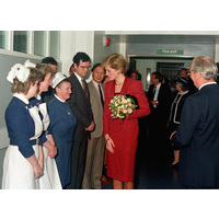 Diana Princess of Wales visits the NHNN October 1986