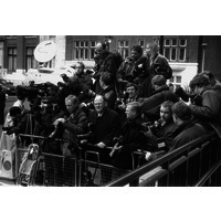 Reporters waiting to photograph Diana Princess of Wales during her visit on 6th March 1996