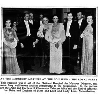 1937, Midnight Matinee at the Coliseum in aid of the National Hospital.