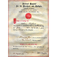 Electrical School certificate. 1902