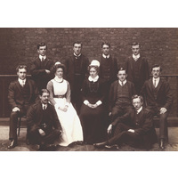 Lady Superintendant , Matron and Male Nurses