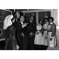 Prince Philip during his visit to mark the centenary of the Hospital. 21st June 1960.