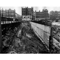 Construction of the Brunswick Centre (completed in 1972)