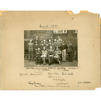 Group photograph. 1930 with George Riddoch
