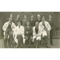 Group photograph with Jospeh Godwin Greenfield and Denis Brinton