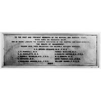 Board of Management Plaque 1885