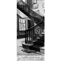 Staircase of number 20 Queen Square. 1882