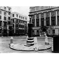 The Italian Hospital and Queen Square during WW2.