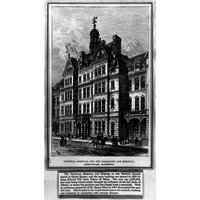 Artwork showing National Hospital 1885
