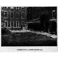 Garden of number 20 Queen Square, 1908