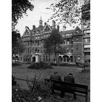 Albany wing and Queen Square Gardens. 1950's