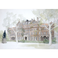 Watercolour of Albany Wing