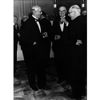 Ernest Gowers, James Purdon Martin, and Wilfred Harris, in 1957.