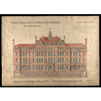 National Hospital - West Elevation - contract drawing no. 7