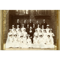 Lady Superintendent and nurses.