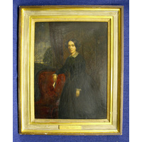 Framed oil painting of Louisa Chandler