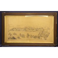 Framed drawing of Convalescent Home at East Finchley