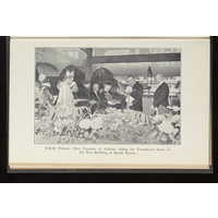 Princess Alice laying the foundation stone of the new building in Queen Square