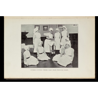 Nurses cutting their cake from Princess Mary