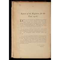 Report of the registrar for the year 1916