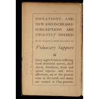 Donations page from 1918 Annual report