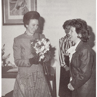 Princess Anne visiting the Institute in 1989